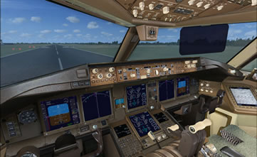 airplane simulator cockpit