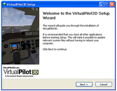 virtualpilot3d installation